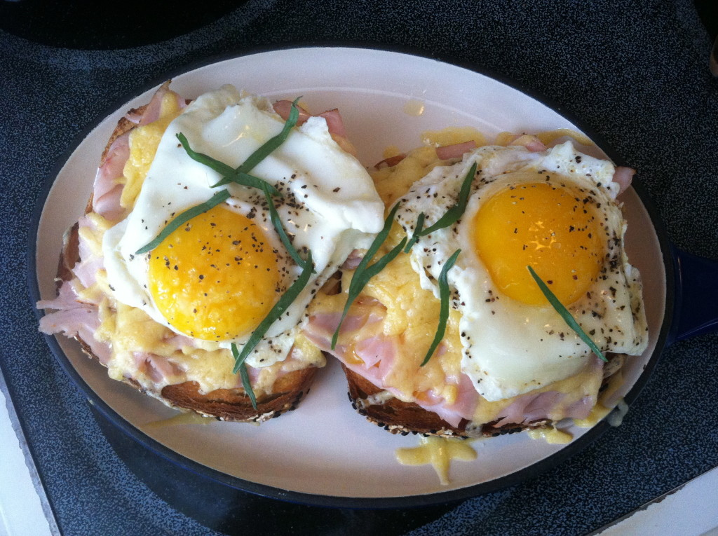 Eggs over Blackforest Ham and Grueyer Cheese 2