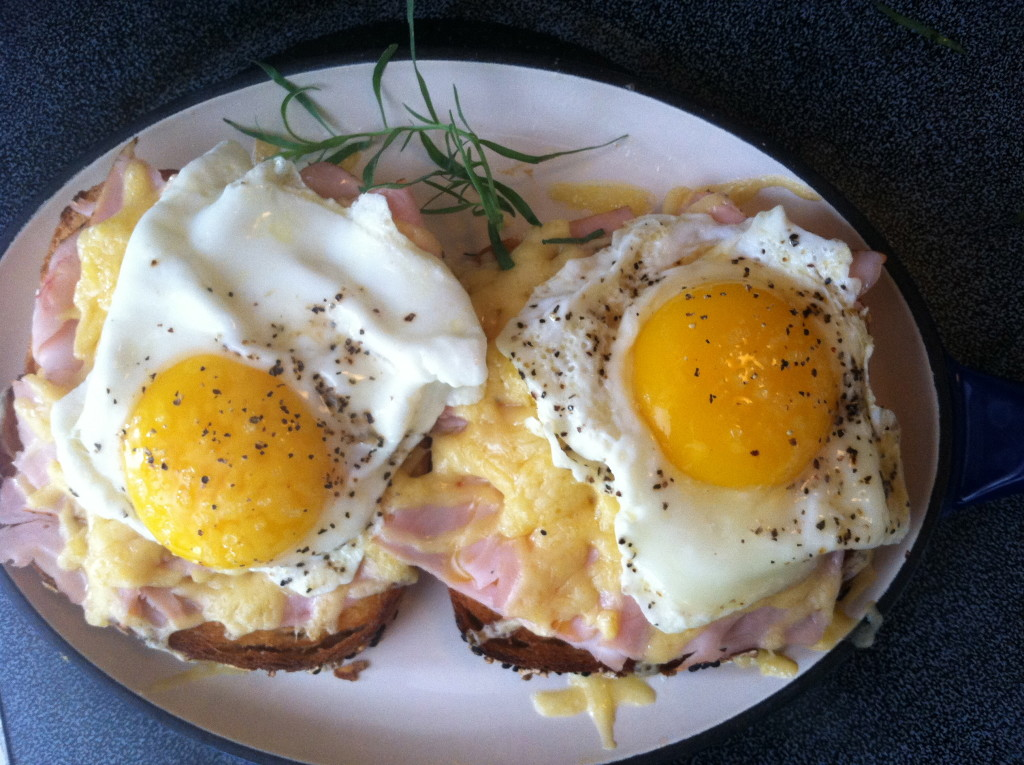 Eggs over Blackforest Ham and Grueyer Cheese 3