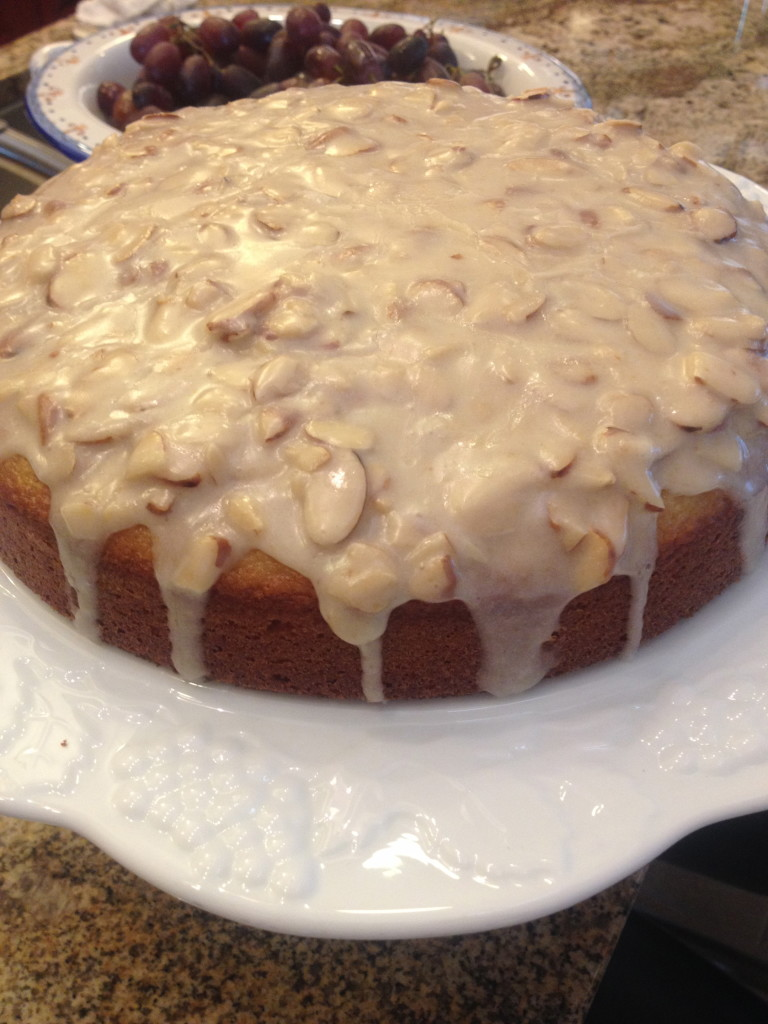 Almond Olive Oil Cake with Brown Butter Glaze