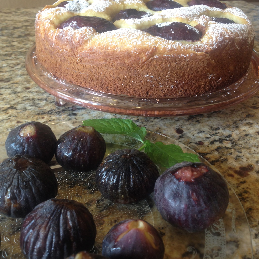 Olive Oil Ricotta Cake with Plums 4