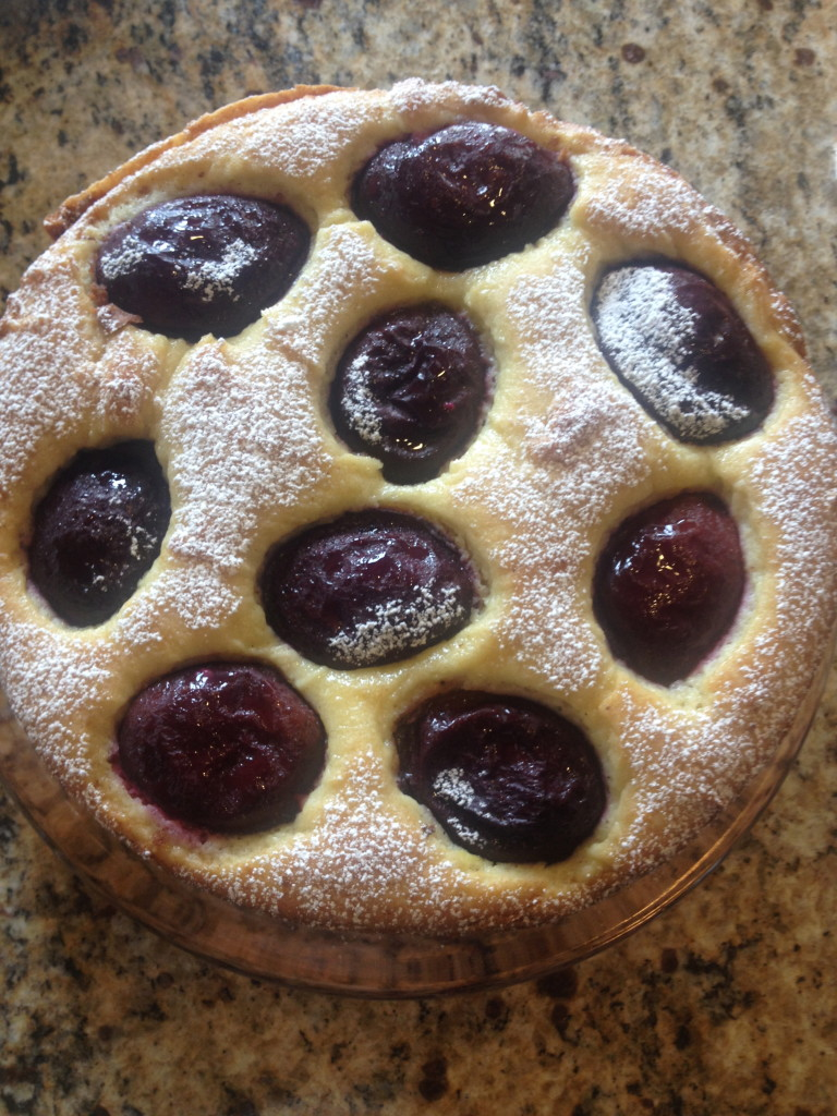 Olive Oil Ricotta Cake with Plums 7