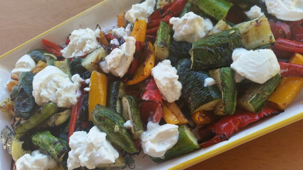 Harvest Vegetables with Fresh Burrata