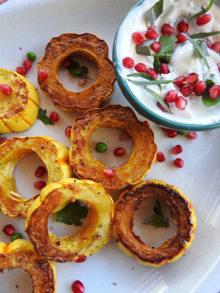 Roasted Delicata Squash Rings with Herbed Yogurt 17