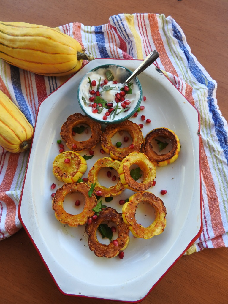 Roasted Delicata Squash Rings with Herbed Yogurt 19
