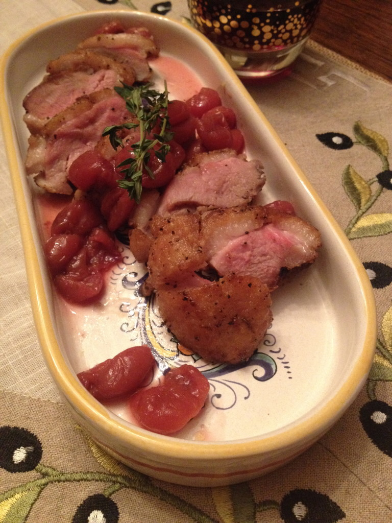 Seared Duck Breast with Rosemary Cherry Sauce