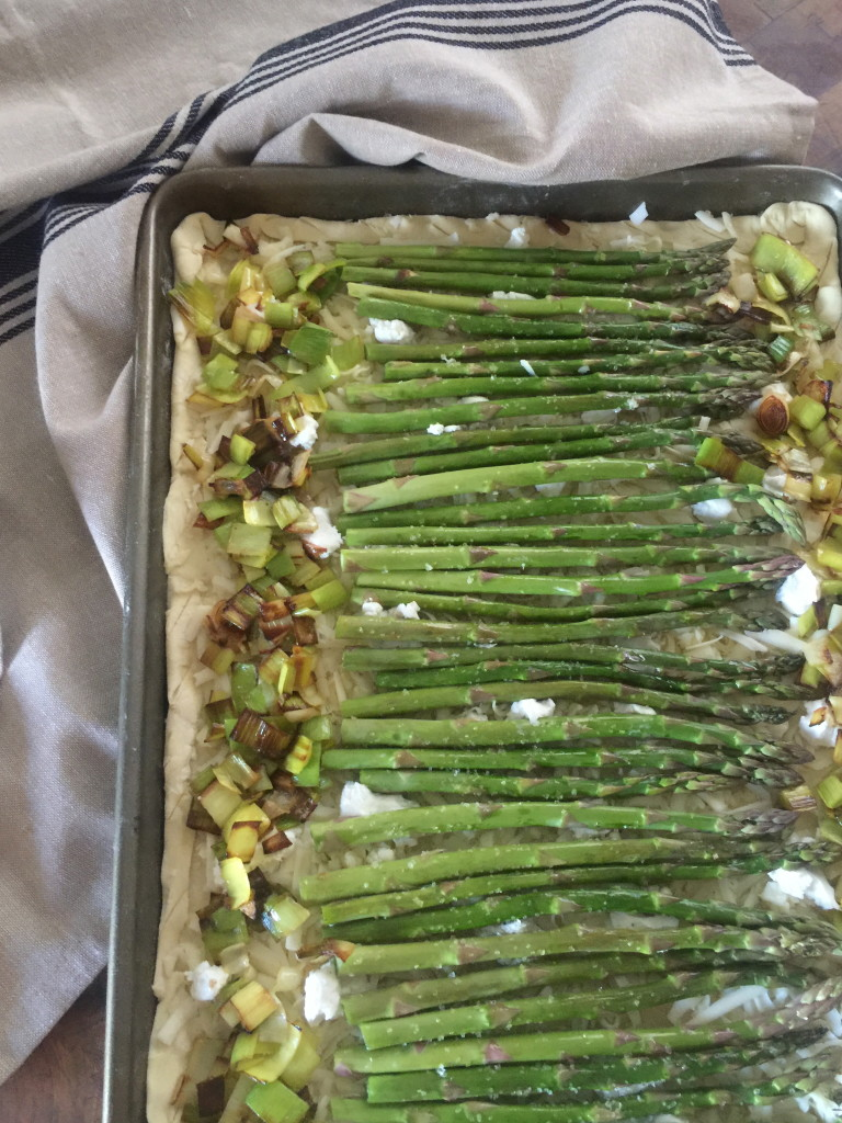 Asparagus and Leek Puff Pastry