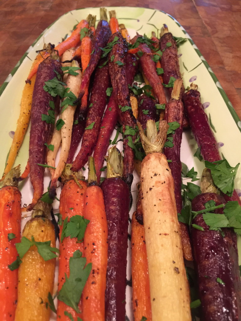 Honey-Glazed Roasted Rainbow Carrots