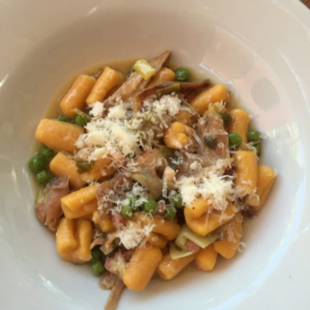 White Wine Demi-Glace Rabbit with Sweet Potato Cavatelli