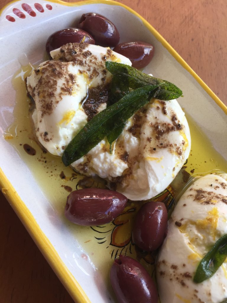 Burrata Cheese with Fried Sage and Anchovy Oil | Eatentions